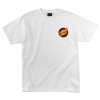 Santa Cruz Flaming Dot Regular S/S - White - Men's T-Shirt