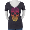 Santa Cruz Doodle Skull Fitted V-Neck S/S - Storm - Women's T-Shirt