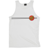 Santa Cruz Classic Dot Regular Tank - White - Men's Tank Top