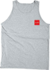 Chocolate Red Square - Heather Grey - Men's Tank Top