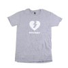 Mystery Heart Premium S/S - Heather Grey/White - Men's T-Shirt
