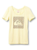 Quiksilver Sun Dotty Crew Tee - Yellow - Womens Shirt