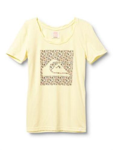 Quiksilver Sun Dotty Crew Tee - Yellow - Womens Shirt