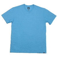 Quiksilver Blank V-Neck - Heather Blue - Men's T-Shirt