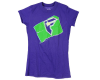Famous Stars & Straps Flash Badge S/S - Purple - Women's T-Shirt