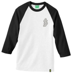 Shake Junt SJ Classic Baseball - White/Black - Men's T-Shirt