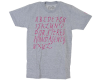 Stereo Alphabet S/S - Heather Grey - Men's T-Shirt
