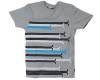 Wesc Horizontal Stripe S/S - Grey - Men's T-Shirt