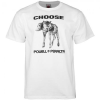 "Powell ""Choose"" - White - Mens T-Shirt"