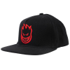 Spitfire Adjustable Bighead Structure Snapback - Black/Red - Men's Hat