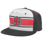 Independent Strip Cross Adjustable Twill Snapback - Black/White - Men's Hat