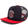 Independent Bauhaus Cross New Era Trucker 9 Fifty Hat - OS - Navy/Cardianal - Men's Hat