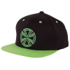 Independent Lines Flexfit? One Ten Snapback Hat - OS - Black/Green - Men's Hat
