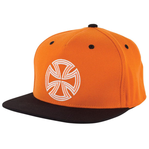 098a059569506 Independent Lines Flexfit  One Ten Snapback Hat - OS - Orange Black - Men s  +Larger Button ...