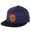 Santa Cruz Classic Dot Flexfit Fitted Stretch Hat - Navy/Black - Men's Hat