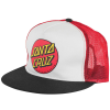 Santa Cruz Classic Dot Trucker Mesh - White/Black/Red - Men's Hat