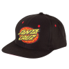 Santa Cruz Psychedelic Dot Adjustable Twill Hat - OS - Black - Men's Hat