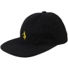Krooked Shmolo EMB 6 Panels Snapback - Black - Men's Hat