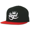 Royal Crown Script Snapback - Black/Red - Men's Hat