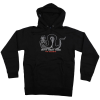 Toy Machine Trust P/O Hooded - Black/White - Men's Sweatshirt