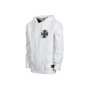 Independent Ave Cross Hooded Zip Up L/S - White - Men's Sweatshirt