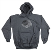 Royal Distressed Cluster Pullover Hooded L/S - Charcoal - Men's Sweatshirt
