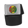 Santa Cruz Rasta Dot Web Belt Black OS Mens - Belt