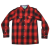 Enjoi Your Friends Shirt L/S Woven Top - Red - Men's Collared Shirt