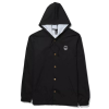Spitfire Bighead Circle Patch Hooded Windbreaker - Black - Men's Jacket