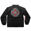 Independent Bar/Cross Coach Windbreaker - Black - Men's Jacket