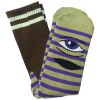 Toy Machine Sect Eye Stripe - Green/Purple - Men's Socks (1 Pair)
