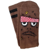 Toy Machine Poo Poo Head - Brown - Men's Socks (1 Pair)