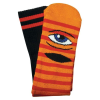 Toy Machine Sect Eye Stripe - Orange/Red - Men's Socks (1 Pair)
