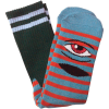 Toy Machine Sect Eye Stripe - Grey Blue/Red - Men's Socks (1 Pair)