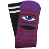 Toy Machine Sect Eye Stripe - Purple/Red - Men's Socks (1 Pair)