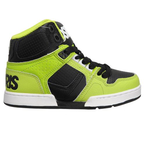 501fd09307 Osiris NYC 83 - Lime/White - Boy's Skateboard Shoes +Larger Button ...