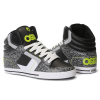 Osiris Clone - Black/Lime/Elephant - Men's Skateboard Shoes