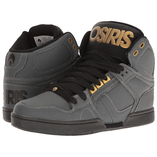 81c97f4b61 Osiris NYC 83 - Charcoal/Black/Gold - Men's Skateboard Shoes +Larger Button  ...