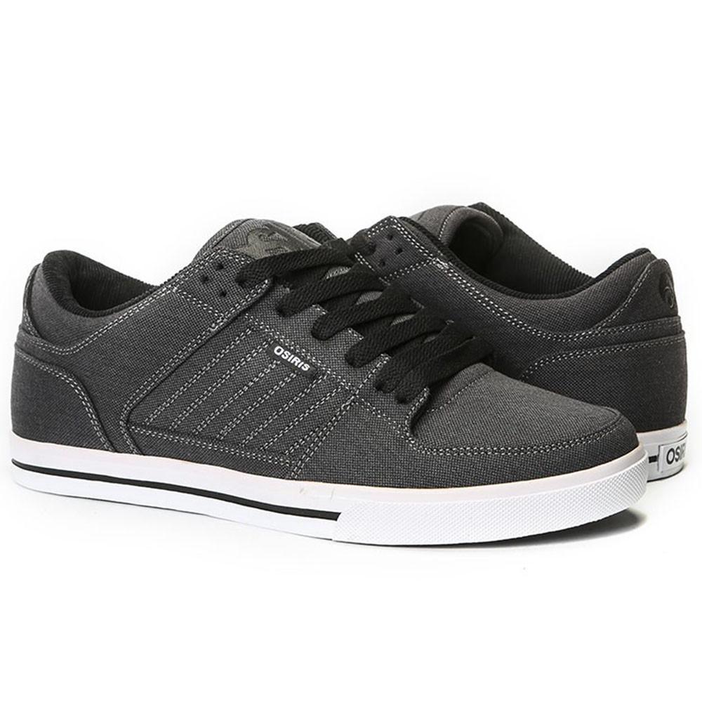 1f8be36475 Osiris Protocol - Black/Text/White - Men's Skateboard Shoes +Larger Button  ...