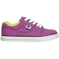 DC Bristol Canvas Youth - Purple (PUR) - Men's Skateboard Shoes