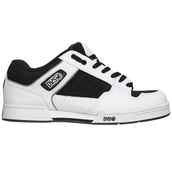 DVS Durham - Black/White Leather  - Men's Skateboard Shoes