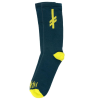 Deathwish Gang Logo - Blue/Green/Yellow - Men's Socks (1 Pair)