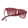 Independent Pattern Square - Red/Black Stripes - OS Unisex - Sunglasses