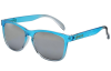 Glassy Deric - Transparent Blue/Silver Mirror - Sunglasses