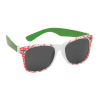 Santa Cruz Slasher Sunglasses - White/Green - OS Unisex - Sunglasses