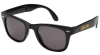 Shake Junt Stretch Logo Fold - Black - Sunglasses