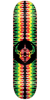 DarkStar Badge RHM - Rasta - 8.0in - Skateboard Deck
