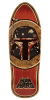 Santa Cruz Star Wars Boba Fett Inlay Collectible - Brown/Natural - 10.35in x 31.0in - Skateboard Deck