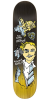 Krooked Ronnie Hellboy Full Shape - Black/Yellow - 8.06in x 31.84in - Skateboard Deck