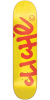 Cliche Handwritten Classic - Red/Yellow - 7.75in - Skateboard Deck